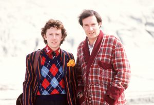 THE HITCHHIKER'S GUIDE TO THE GALAXY July 2001 (l-r) DAVID DIXON as 'Ford Prefect' and SIMON JONES as 'Arthur Dent'